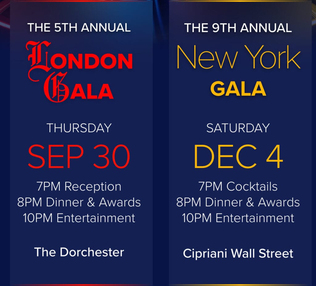 Save The Dates: THI's Annual NY and London Galas Inbox
