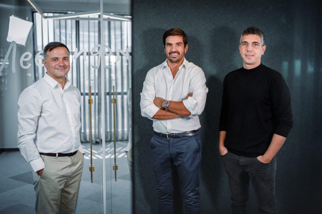 Prosperty's Co-Founders. Left to right: Nikos Patsiogiannis, Antonis Markopoulos, and Antonis Despotakis.